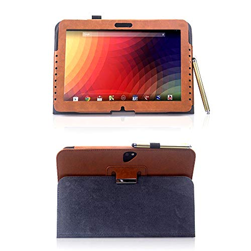 AFesar Case for Google Nexus 10 Tablet Cover, Synthetic Leather Flip Stand Back Cover for Samsung GT-P8110 10.1 inch Google N10 Tablet (Brown)