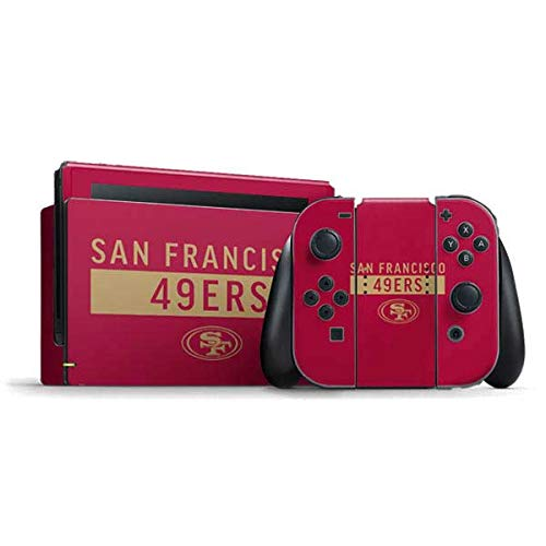 Skinit Decal Gaming Skin Compatible with Nintendo Switch Bundle - Officially Licensed NFL San Francisco 49ers Red Performance Series Design