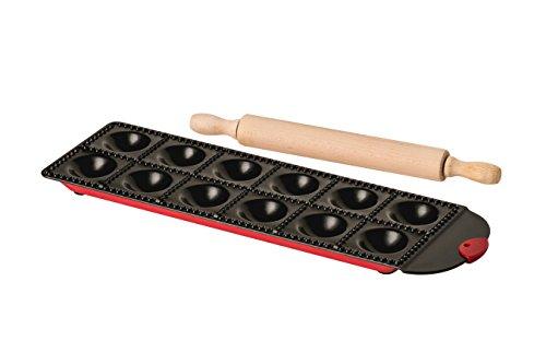 Premier Housewares Form und Nudelholz für selbstgemachte Ravioli, Edelstahl, Mehrfarbig, 2-teiliges Set