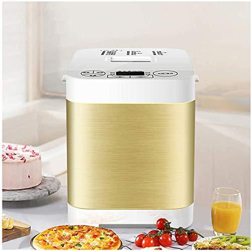 Broodbakmachine, automatische broodmachinel, intelligent ontbijt, toast, bakmachine, cake, broodrooster, witte yoghurt fermentent deeg mixer goud 24 x 31 x 30 cm (9 x 12 x 12 inch)