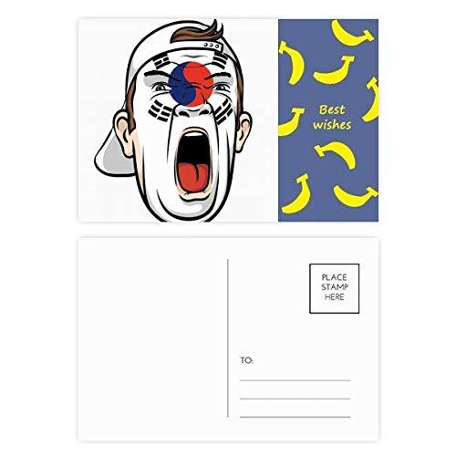 Gesichtsmaske/Gesichtsmaske/Bananen-Postkarten-Set, mit englischer Flagge, 20 Stück