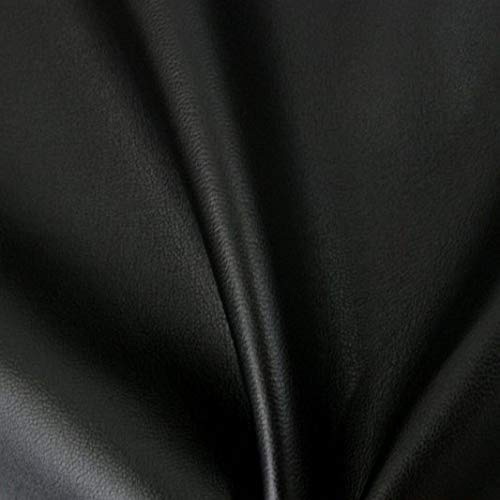 LAS TELAS ... Tela de Polipiel Negra. Ancho 1.50 Mtrs. 1 Mtr.