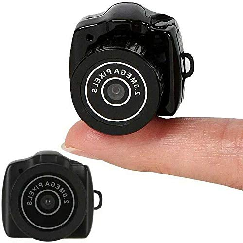 IYUNDUN Mini Cámara Portátil Minúscula, Grabadora De Audio Y Video HD Videocámara Webcam Small DV Security Secret Nanny Car Sport Micro CAM con Micrófono