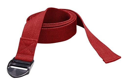 Trendy Yoga Gurt rot 190x4x0,1cm Fitness Stretch Gürtel Gymnastik Pilates