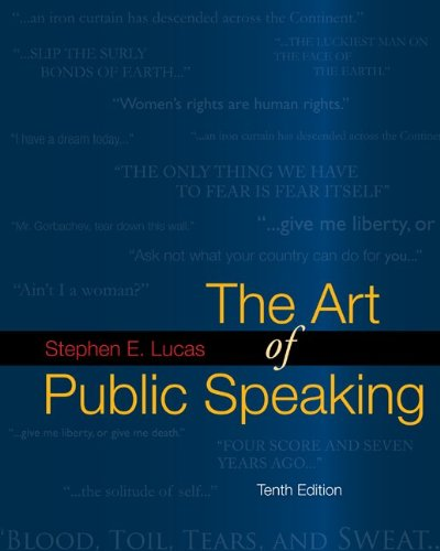mcgraw hill books on public speakings The Art of Public Speaking, 10th Edition