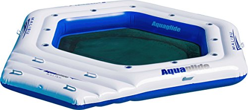 AQUAGLIDE Malibu Island - Inflatable Water Float for 10 People