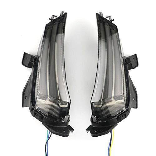 Fpm Cola luz de Freno LED Lámpara de señal de Giro de la Motocicleta con indicador Frontal de luz de Funcionamiento diurno Azul/Blanco para 300 2017 2018 2019 (Color : White Light Version)