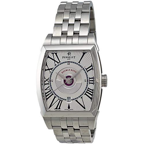 Perrelet Men's Double Rotor Steel Bracelet & Case Automatic Watch A1029-A
