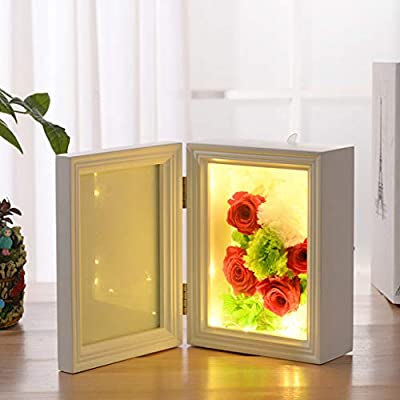 7 Inch 3D Photo Frame Deep Box Frame Shadow Box Frame for Flowers,LED Art Crafts,Wedding Gifts etc.- Glass Window- Table Top Display or Wall Hanging