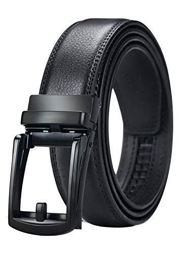 Maikun Mens Belt, Click Ratchet Belt For Men, Dress Belt with Silding Buckle Size-Customize