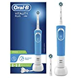 <span class='highlight'>Oral</span>-B Vitality Plus CrossAction <span class='highlight'>Electric</span> Rechargeable <span class='highlight'>Toothbrush</span>, 1 Blue Handle, 2 Brush Heads, UK 2 Pin Plug