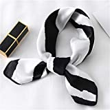 Chica de moda de las bufandas de pelo Pañuelos de pelo diseño impreso Cabeza pañuelo de la bufanda de 2020 nuevo de las mujeres bufanda de seda de la plaza del fular de la Virgen (Color : FX 109)