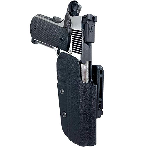 Black Scorpion Gear OWB Kydex Competition Holster, IDPA Approved fits 1911 Govt. Classic 5'' 9mm, 40 S&W, 45 ACP (Black)
