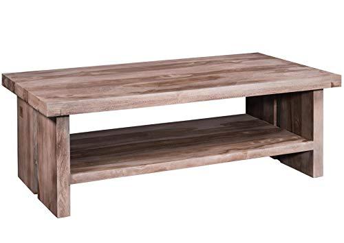 Table Basse 130x70cm - Bois Massif de Palissandre laqué (Smoked Oak) - Sydney #221