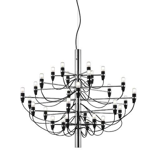 FLOS Lampada A Sospensione 2097S–cromato Gino sarf atti 1958, Acciaio Inox, Ottone, Ferro, lampada da soggiorno–Lampada da tavolo–Lampada a sospensione–Lampada da soffitto