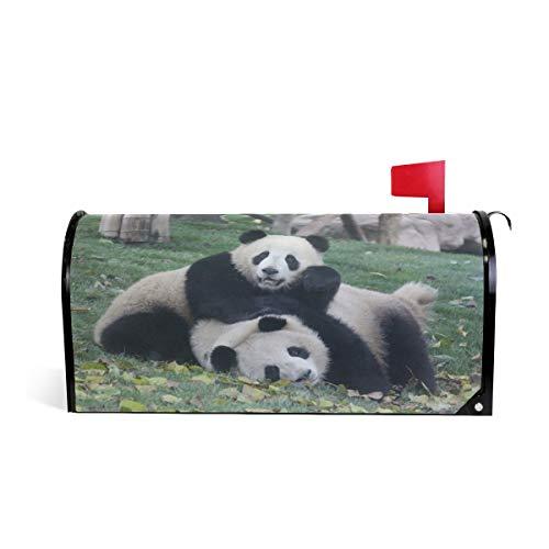 ZZKKO Panda's hebben leuke magnetische brievenbus cover wrap post brievenbus cover voor buiten tuin huisdecoratie groot formaat 25,5 x 20,8 inch 25.5