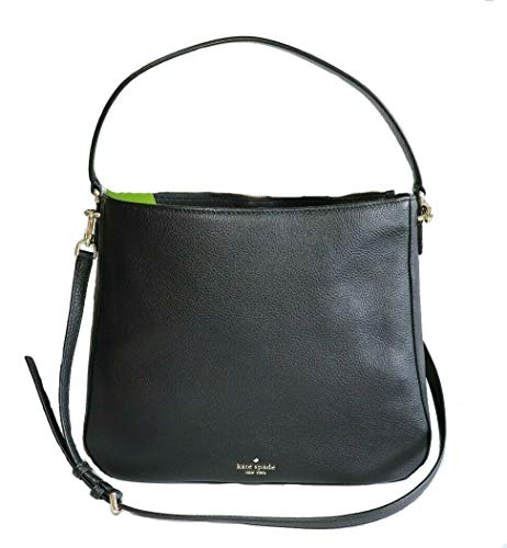 "Soft pebbled leather Zip Top Closure Interior zip and slide pockets style # wkru5939 11.4""h x 13.4""w x 3.5""d"