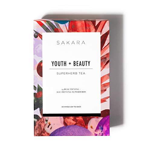 Sakara Youth + Beauty Tea w/ 14 whole-leaf botanicals for ultimate radiance 30pk