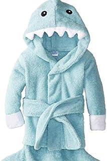 HotsUAE Baby Shark Cotton Bathrobe (Blue, Medium for 2-3 Years)