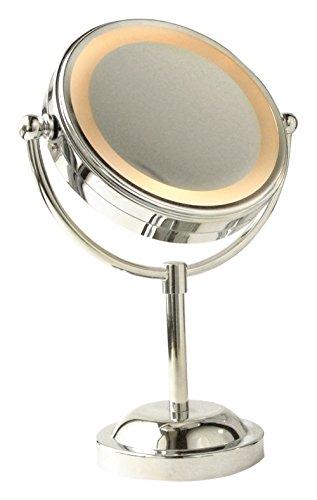 Boutique Beauté 90 - Specchio con piedistallo cromato con luce