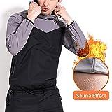 1 juego de traje de sauna, chaqueta y pantalón para pérdida de peso, para hombre, 2 piezas.
