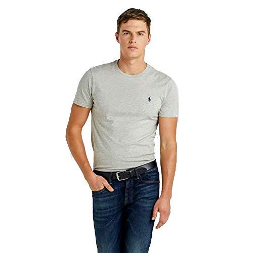 Ralph Lauren, Maglietta da uomo, vestibilità personalizzabile Grigio melange M