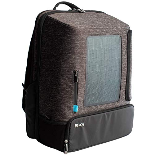 Multifunctional Solar Backpack with Power Bank, 40L Bag Designed for Fitness, Business, Travel and Casual Use, Grey