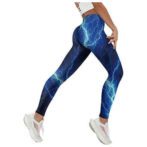 Mallas Deporte Mujer Leggins Pantalón Medias Deportes Elásticos de Cintura Alta para Correr, Fitness, Yoga, Tocar Fondo, Pantalones de Nueve Puntos