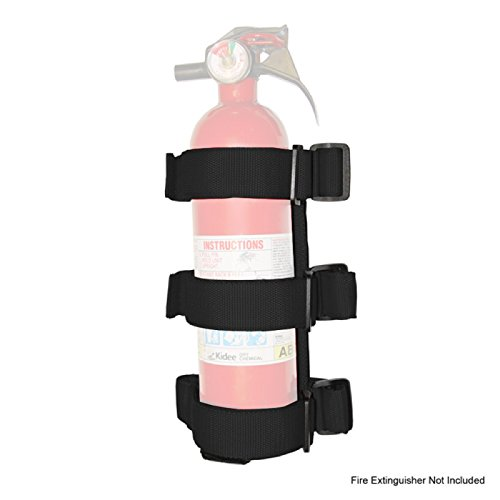 Outland 391330521 Black Sport Bar Fire Extinguisher Holder for CJ/YJ/TJ Wrangler/JK