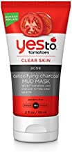 Yes To Tomatoes Clear Skin Detoxifying Charcoal Mud Mask, 2 Fl Oz, For Acne Prone Skin To Draw Out Impurities And Prevent Breakouts, Contains Salicylic Acid, 96% Natural Ingredients