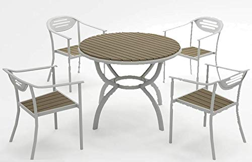 Sol 72 Outdoor Keturah Contemporary Designed 4 Seater Dining Set