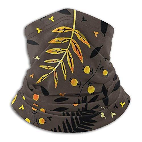brandless Face Mask Autumn Leaves Ski Mask Hat Neck Gaiter Headwear for Women Men
