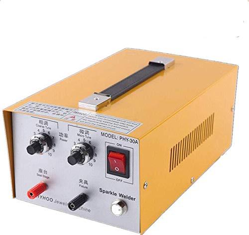 30A Máquina de Soldadura de Joyas, 400W Máquina de Soldadura por Puntos de Pulso para Joyería, Soldador por Puntos de Pulso para Oro Plata