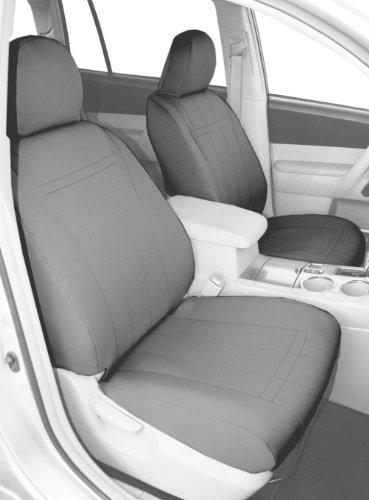 CalTrend Front Row Bucket Custom Fit Seat Cover for Select Honda CR-V Models - NeoSupreme (Light Grey)