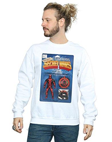 Marvel Hombre Deadpool Secret Wars Action Figure Camisa De Entrenamiento Blanco Small