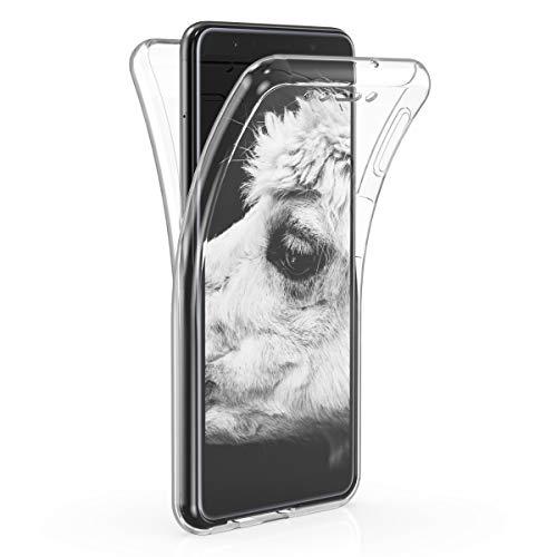 kwmobile Schutzhülle kompatibel mit Samsung Galaxy A7 (2018) - Hülle Silikon Komplettschutz - Handy Cover Hülle Transparent
