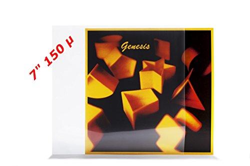 xi-media ®, 25 stuks, single platen, vinyl, buitenhoezen, beschermhoezen, 150 μ, polyetheenfolie, polyetheenfolie, 25 stuks