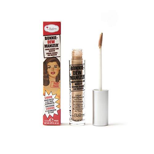 theBalm Bonnie-Dew Manizer Liquid Highlighter, Skin Perfector, Long-Lasting, Soft, All-Over Illuminator, Easily Blendable, Brown, 0.19 oz