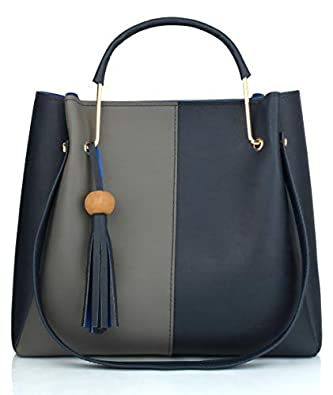 Mammon Women's stylish Dual color Handbags (Dual-bib-GB)