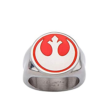 INOX Star Wars Red Rebel Symbol Stainless Steel Ring   8