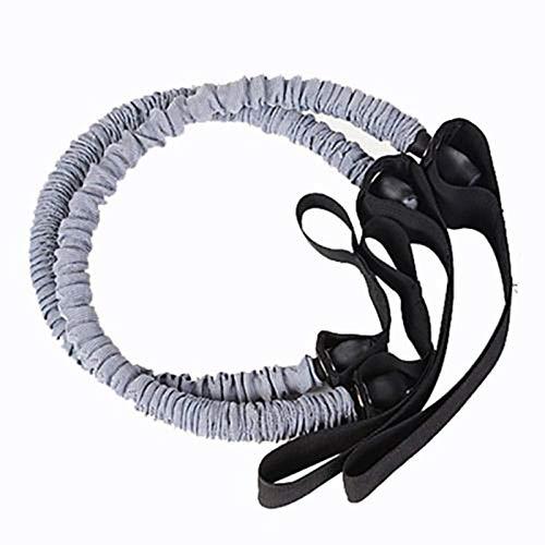 Alarmclocker8B Vogatore per Esercizi con la Corda Elastica Resistanc Vogatore Fascia di Resistenza Addominale Home Fitness Allenamento Sportivo Attrezzatura Fitness Banda Elastica-Gray_1