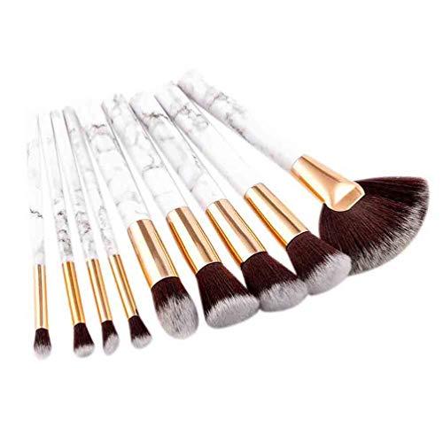 9Pcs Pinceaux de Maquillage Professionnel Fond de Base en Nylon Doux Poudre Blush Contour Correcteur de Mélange Brosses Cosmétiques Kit D'outils