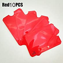 Card Holder & Note Holder - PCS Anti Rfid Blocking Reader Card Cover Aluminum Foil Credit Card Holder Protection ID Bank Card Case Safty Pack stationery (Red 10 pieces)