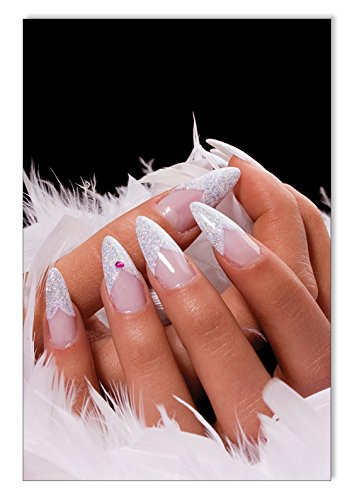 White Stiletto Nails Poster / Plakat DIN A3 Nagelstudio