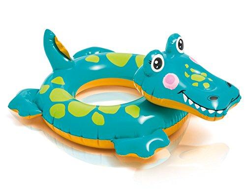 Badetier Aufblasbarer Schwimmring für absoluten Badespaß / Kroko / Krokodil / Krokodil ca. 72 x 66 cm Badespaß für Kinder / der ideale Badespass für Schwimmbad , See , Strand oder Bade Urlaub
