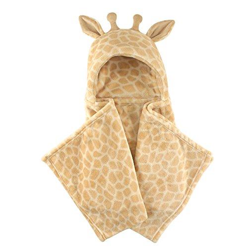 Hudson Baby Unisex Baby and Toddler Hooded Animal Face Plush Blanket, Giraffe, One Size