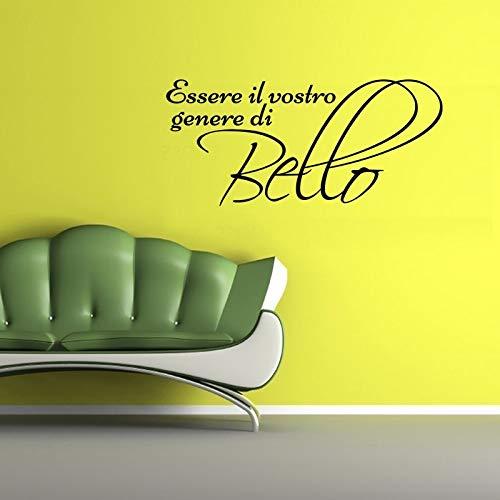 wandaufkleber sterne grau wandaufkleber blumen grün Wandtattoo Zitat italienische Schönheitssprüche essere il vostro genere di bello Wandaufkleber für Wohnzimmer Schlafzimmer