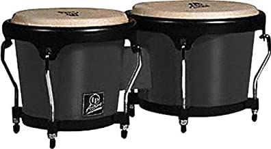 Latin Percussion LPA601F-BK LP Aspire Fiberglass Bongos - Black/Black