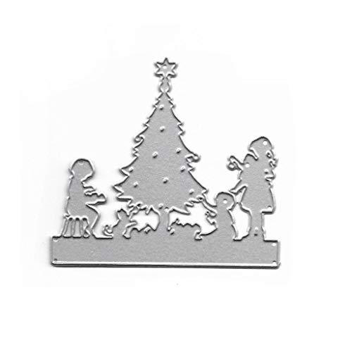 Kcibyvx Stanzmaschine Stanzschablone, Weihnachtsbaum Scrapbooking Stanzschablonen Stanzformen Prägeschablonen Papier Handwerk Deko Festival Weihnachten Geburtstag Karten Geschenk