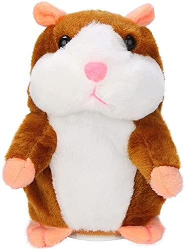 Sprechender Hamster Plüsch Spielzeug, Plüsch Hamster, Wiederholt was Sie Sagen Mimikry Haustier, Elektronische Sprechende Aufzeichnung Stofftier Adorable Interaktives Spielzeug für Baby Kinder (Khaki)